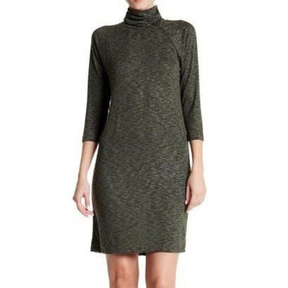 5683466c3af3 bobeau Dresses   Nwt Green Heathered Mockneck Sweater Dress   Poshmark